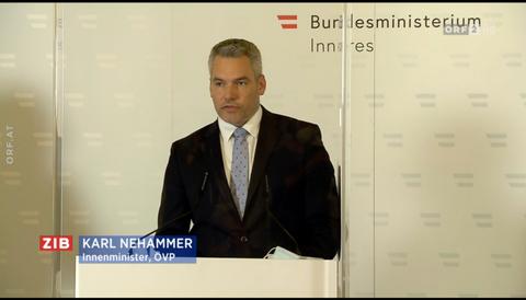 Österrikes inrikesminister Karl Nehammer