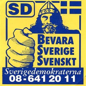 Klistermärke, Bevara Sverige svenskt