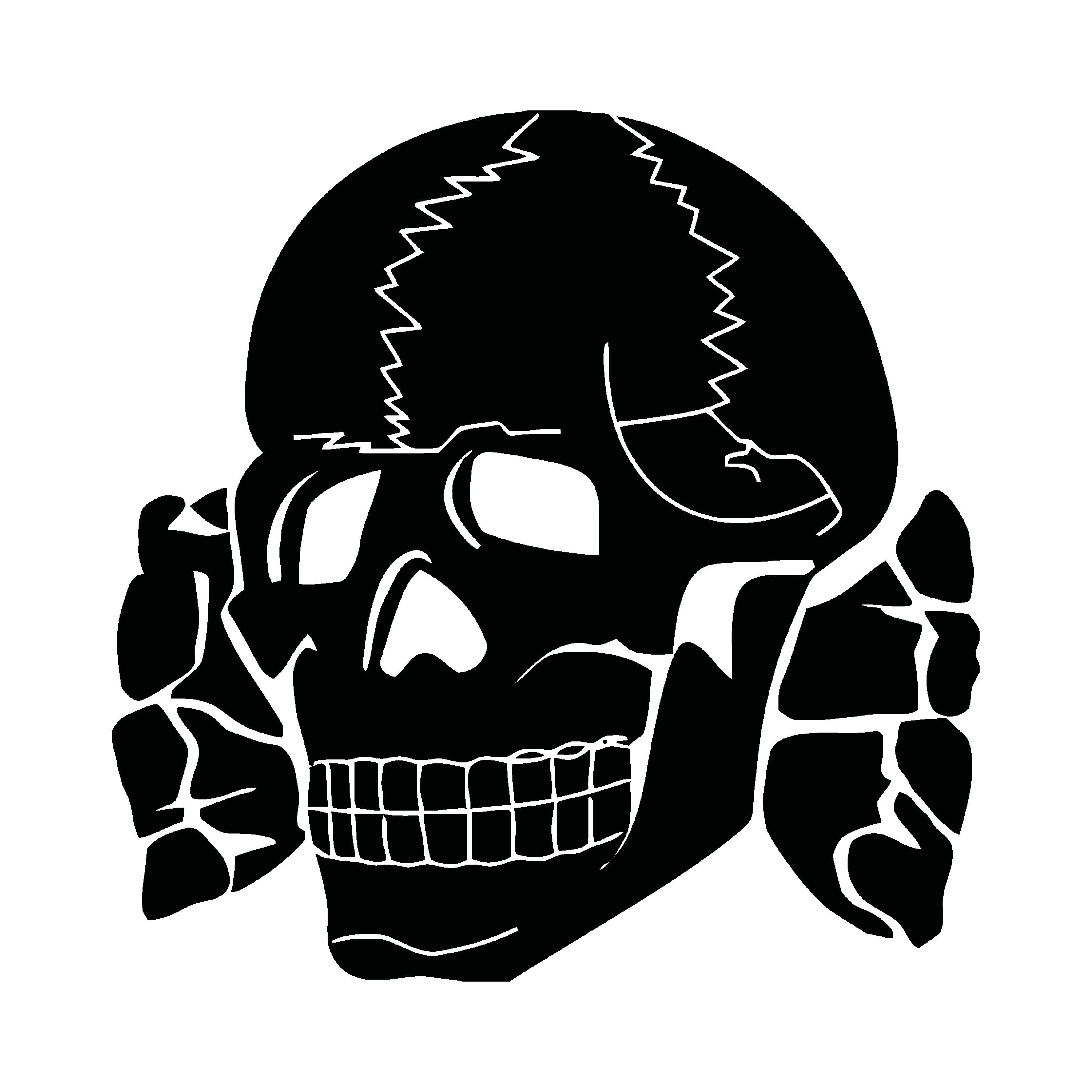 Dödskalle, totenkopf